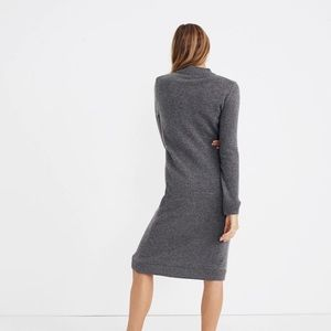 Madewell Dresses - NWT Madewell Grey Cashmere Midi sweater dress S